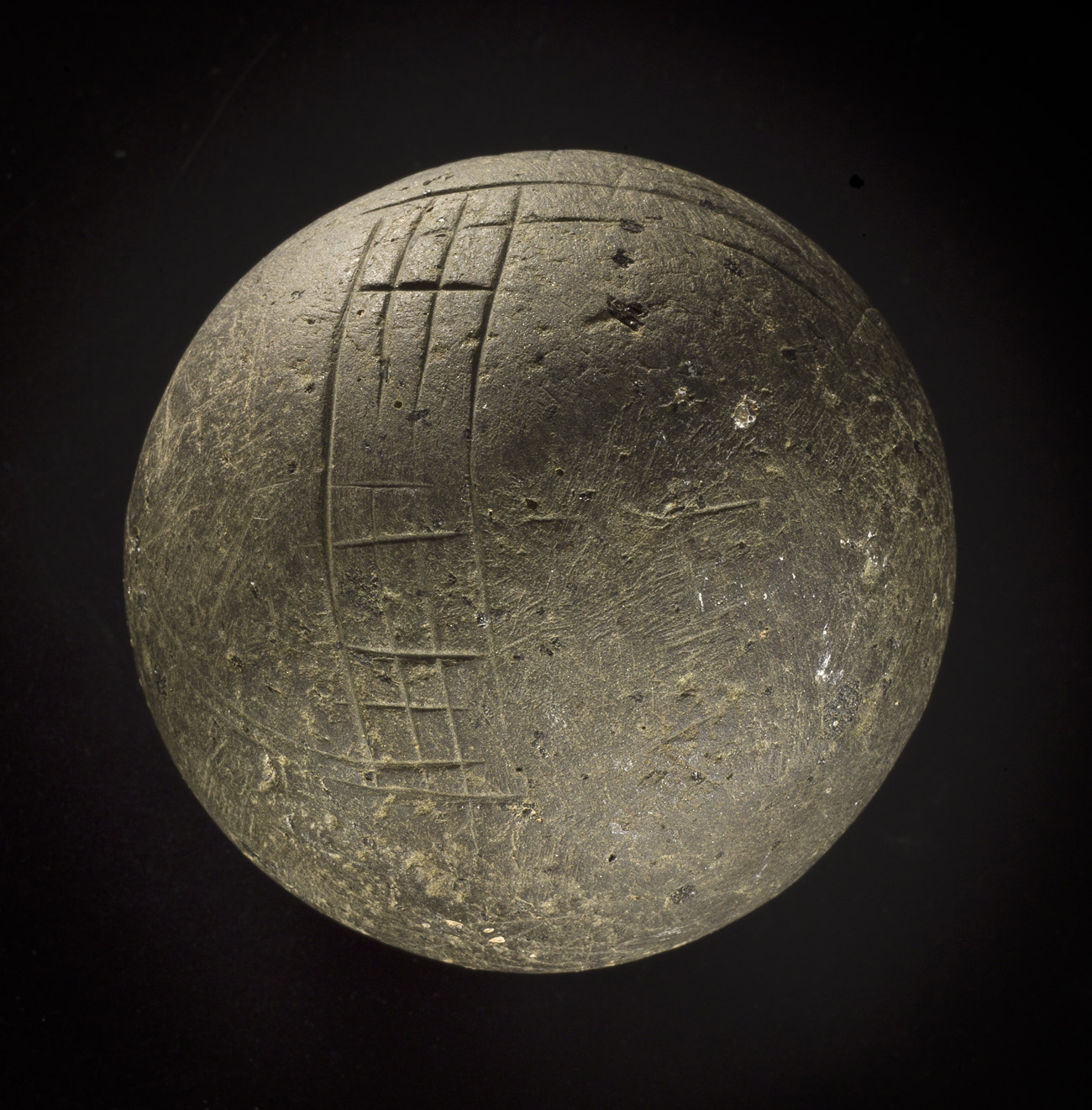 Teaching history with objects carved stone ball from